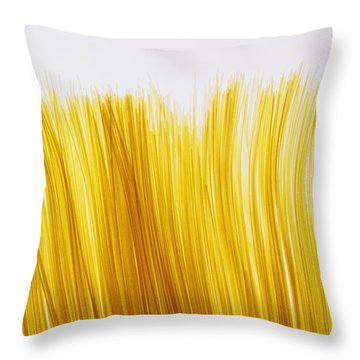 Spaghetti Throw Pillow by David Chapman