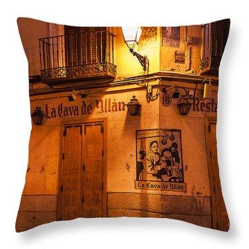 Spanish Taberna Throw Pillow by John Greim