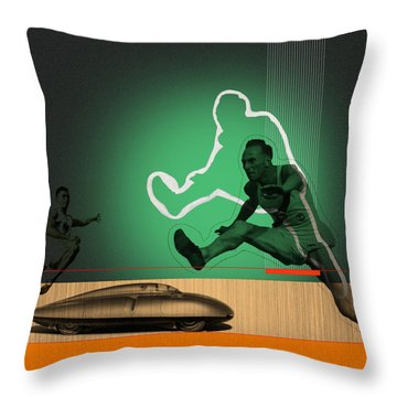 Speed Monsters Throw Pillow by Naxart Studio