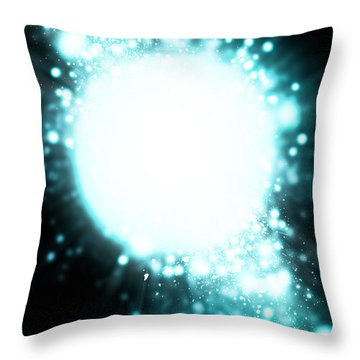 Sphere Lighting Throw Pillow by Setsiri Silapasuwanchai