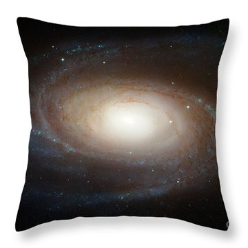 Spiral Galaxy M81 Throw Pillow by Nasa