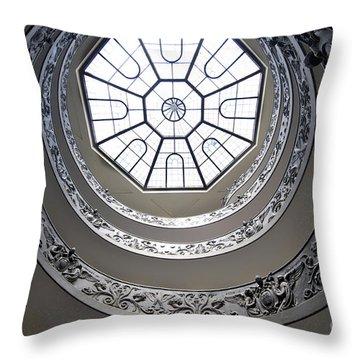 Spiral Staircase In The Vatican Museums Throw Pillow by Bernard Jaubert