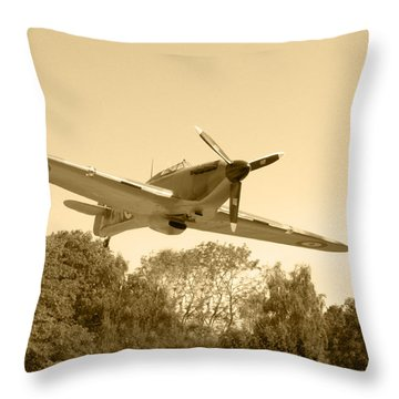 Spitfire Throw Pillow by Chris Day