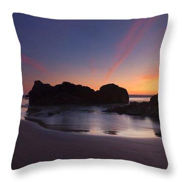 Splitting The Heavens Throw Pillow by Mike  Dawson