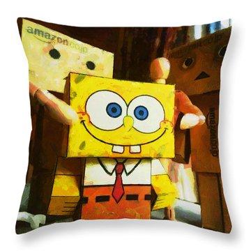 Spongebob Always Loves The Group Hugs Throw Pillow by Steve Taylor
