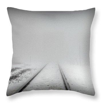 Spooky Train Tracks Throw Pillow by Ms Judi