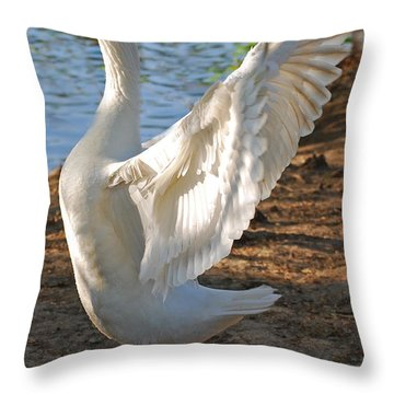 Spread Your Wings Throw Pillow by Lisa Phillips