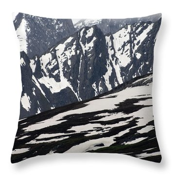 Spring In Alaska Mountains Throw Pillow by Michael S. Quinton