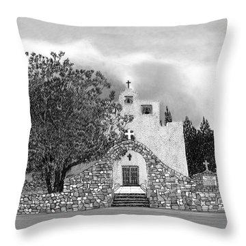 St Franncis De Paula Mission Throw Pillow by Jack Pumphrey