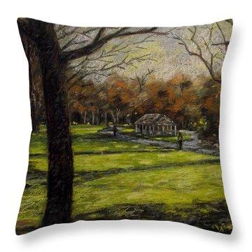 St. Stephen's Green Dublin Throw Pillow by John  Nolan