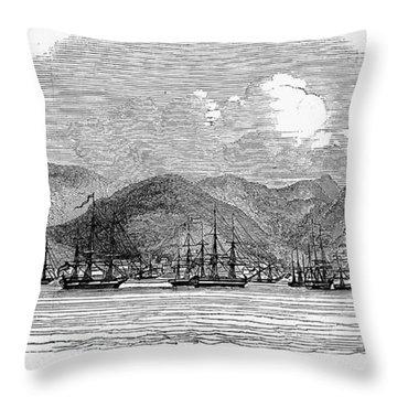 St. Thomas, 1844 Throw Pillow by Granger