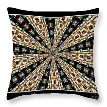 Stained Glass Kaleidoscope 39 Throw Pillow by Rose Santuci-Sofranko