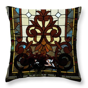 Stained Glass Lc 16 Throw Pillow by Thomas Woolworth