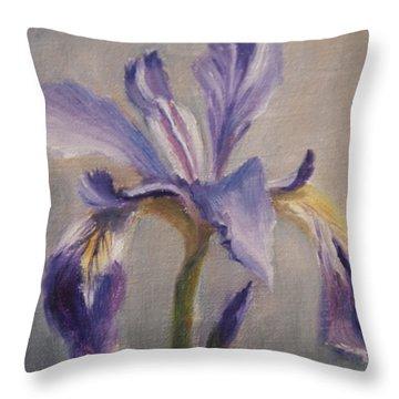Standing Tall Throw Pillow by Debbie Lamey-MacDonald