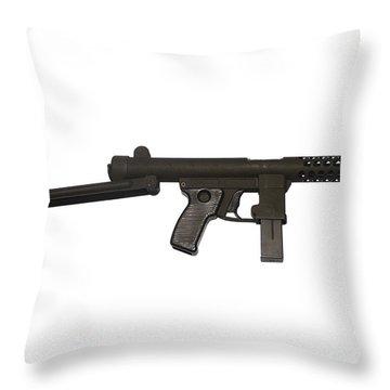 Star Z70b 9mm Submachine Gun Throw Pillow by Andrew Chittock
