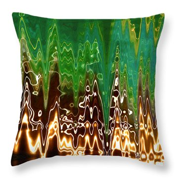 Static Frequency Throw Pillow by Ginny Schmidt