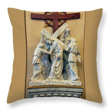 Station Of The Cross 05 Throw Pillow by Thomas Woolworth