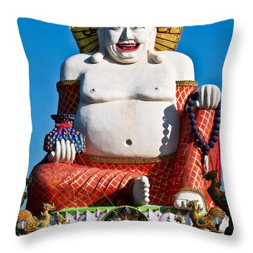 Statue Of Shiva Throw Pillow by Adrian Evans