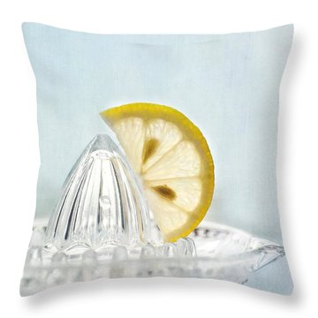 Still Life With A Half Slice Of Lemon Throw Pillow by Priska Wettstein