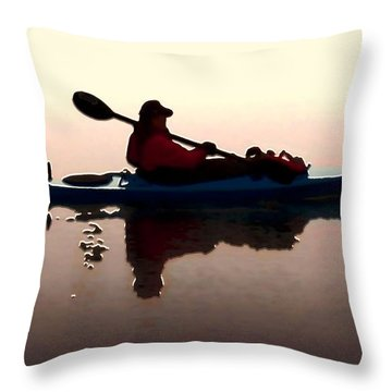 Still Waters Throw Pillow by Dale   Ford