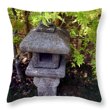 Stone Lantern Throw Pillow by Nina Fosdick