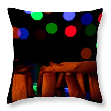 Stonehenge In Starry Night Throw Pillow by Paul Ge