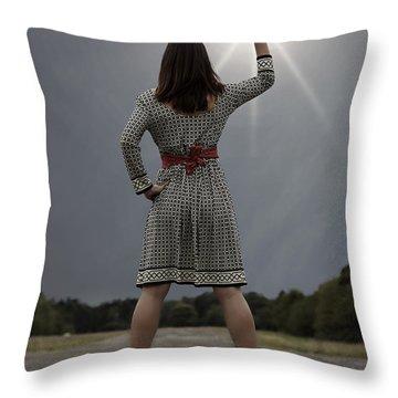 Stop The Sun Throw Pillow by Joana Kruse