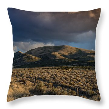Storm Clearing Over Great Basin Throw Pillow by Greg Nyquist