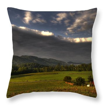 Storm Throw Pillow by Greg and Chrystal Mimbs