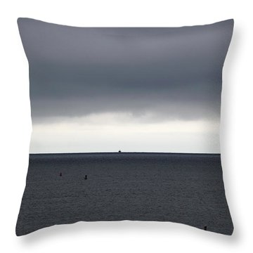 Storms Ahead Throw Pillow by Michelle Wiarda