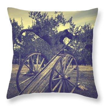 Straw Cart Throw Pillow by Joana Kruse