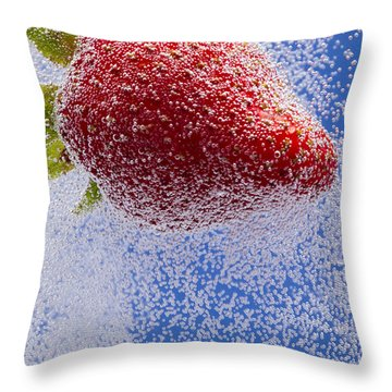 Strawberry Soda Dunk 2 Throw Pillow by John Brueske