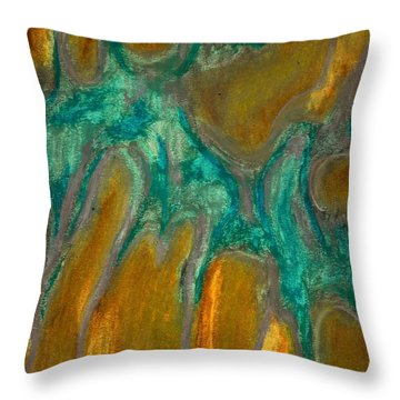 Stretching Throw Pillow by Carla Sa Fernandes