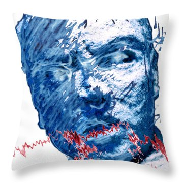 String Theory Again Throw Pillow by Adam Long