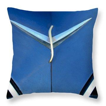 Studebaker Hood Emblem Throw Pillow by Jill Reger