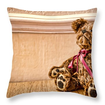 Stuffed Friend Throw Pillow by Heather Applegate