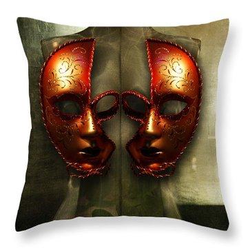 Suckling The Silence  Viriditas Throw Pillow by Rosa Cobos