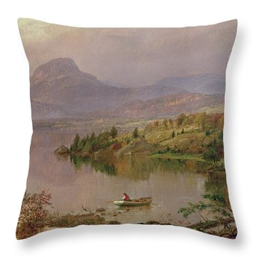 Sugarloaf From Wickham Lake Throw Pillow by Jasper Francis Cropsey