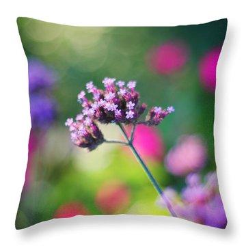Summer Verbena Throw Pillow by Amy Tyler