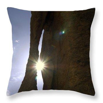 Sunburst Through Granite Throw Pillow by Sally Weigand