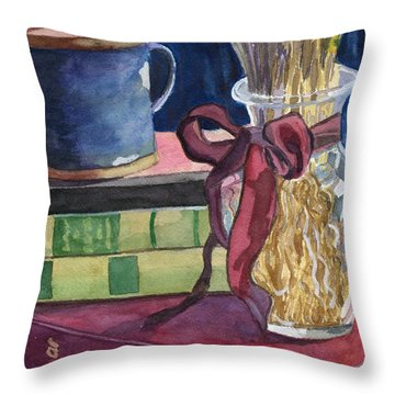 Sunday Afternoon Throw Pillow by Lynne Reichhart