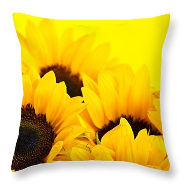 Sunflowers Throw Pillow by Elena Elisseeva