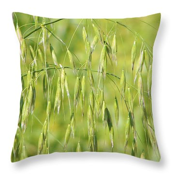 Sunny Day At The Oat Field Throw Pillow by Christine Till