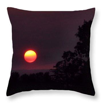 Sunrise  09 25 12 Throw Pillow by Joyce Dickens
