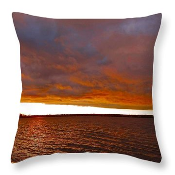 Sunrise At Ile-bizard ...  Throw Pillow by Juergen Weiss
