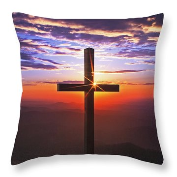 Sunrise At Pretty Place Throw Pillow by Rob Travis
