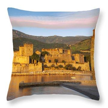 Sunrise In Collioure Throw Pillow by Brian Jannsen