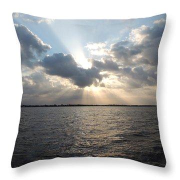 Sunrise Over Keaton Beach Throw Pillow by Marilyn Holkham