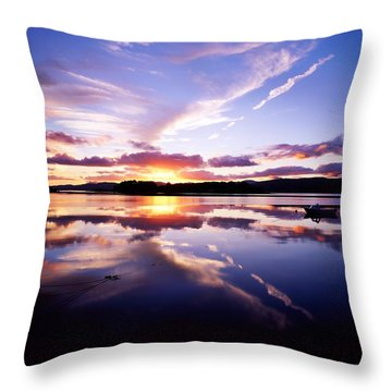 Sunset, Dinish Island Kenmare Bay Throw Pillow by The Irish Image Collection