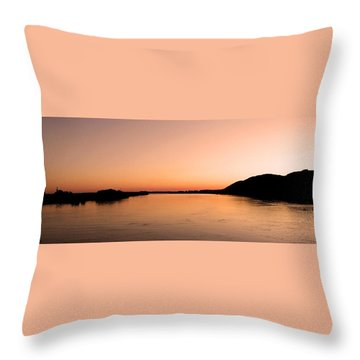 Sunset Over The Danube ... Throw Pillow by Juergen Weiss